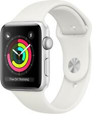 Apple Watch Series 3 GPS 38mm Smart Watch Aluminium case Sport Band white GPS