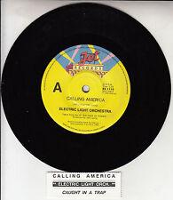 "ELECTRIC LIGHT ORCHESTRA  Calling America ELO 7"" 45 record + jukebox ttile strip"