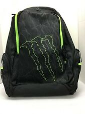 Official Monster Energy Drink Promotional Backpack Book Bag w/Laptop Slot RARE