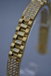 Childrens 9ct Gold CZ Bracelet