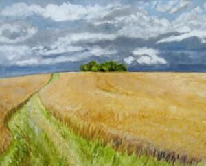 Large Impressionist Oil Painting MARGARET HARMSWORTH 1928-2007 SEINE VALLEY