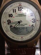 casio illuminator mens watch,phone#c Chronograph Day Date W/time,lovely Design