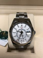 Rolex Sky-Dweller 42mm Stainless Steel White Dial Watch 326934 Unworn