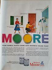 1956 Benjamin Moore House Paint Homes Worth More Original Ad