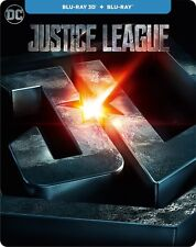 Justice League (Blu-ray 3D + Blu-ray) (STEELBOOK) (ALL) (NEW) (2017)