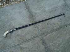 More details for collectable walking stick vintage style metal shaft very nice gift for collector