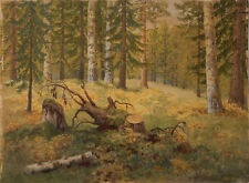 An unknown artist, Clearing, Art Painting Russian 19 century