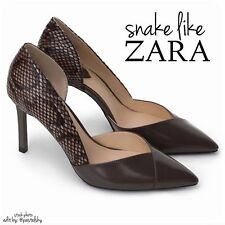 ZARA reptile snake skin high heeled US 6 NIB