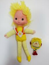 "Vintage Rainbow Brite Canary Yellow 11"" Doll with Spark Sprite 1983 Hallmark"