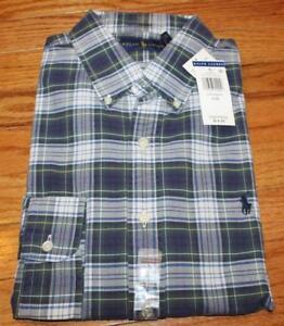 Polo Ralph Lauren Mens Long Sleeve Button Down Oxford Dress Shirt Pony Logo *H6