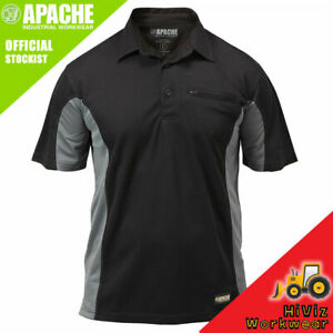 Apache Dry Max Work Mens Polo Shirt - Lightweight Breathable - Moisture Wicking