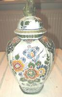 Vintage★bunte große Deckel Vase ★ Delft polychroom ★ Holland Handwerk ★ ca 34 cm