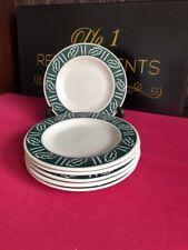 "6 x Hornsea Forest Set of Dessert Salad Breakfast Plates 7.75"" Green"