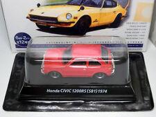 Honda Civic 1200RS SB1 1974 Red 1/64 Miniature car 1:64 KONAMI Japan