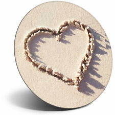 Awesome Fridge Magnet - Cute Love Heart Sand Couple Girlfriend Cool Gift #8717