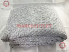 Hotel Collection Diamond Stripe KING Quilted Coverlet Grey