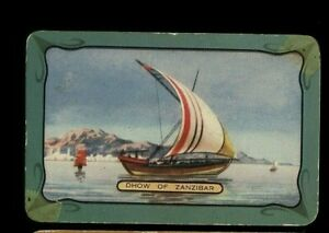 ONE LISTED NAMED COLES BLANK BACK SWAP CARD DHOW OF ZANZIBAT STRIPED SAIL