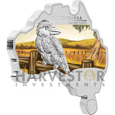 2012 AUSTRALIAN MAP SHAPED COIN - KOOKABURRA - SILVER PROOF - ONLY 6000 - FIRST