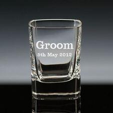 Personalised Bullet Shot Glass Best Man Groom Usher Wedding Gift Engraved