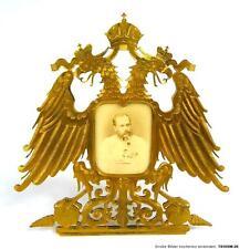 Bronze Rahmen Kaiser Franz Joseph I Hof-Fotograf Angerer K & K Monarchie
