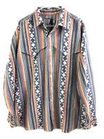 Vintage Panhandle Slim Button Up Shirt Mens XL Striped Long Sleeve Cotton Euc