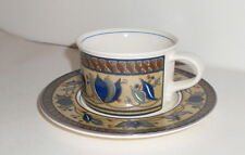 Mikasa Intaglio CAC01 ARABELLA  3 Coffee or Tea Cups and Saucer Sets