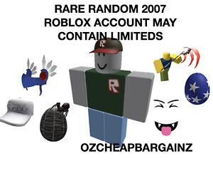 RARE ROBLOX 2007 ACCOUNT (RANDOM) MAY CONTAIN LIMITEDS *READ DESCRIPTION*