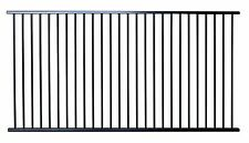 Black Aluminium Pool Fencing Panel 2400mm x 1200mm high Flat Top in Black Satin