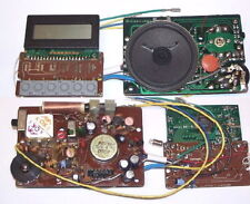 AM FM transistor IC CLOCK RADIO experimenter project kit board LOADED w/ PARTS
