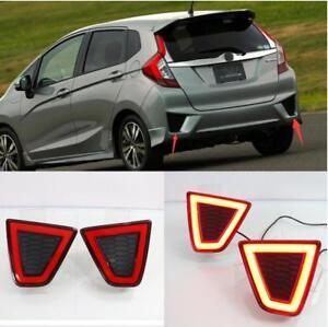 For 2014-17 Honda Fit/Jazz LED Rear Bumper decoration lamp led brake lights 2PCS