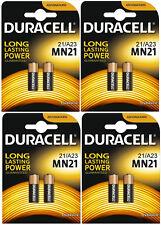 8 (4x2) Duracell A23 12V MN21 MN23 23AE 21/23 GP23 23A 23GA Batteries