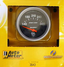 Auto Meter 3543 Sport Comp Electric Oil Temperature Gauge 140-300 2 5/8