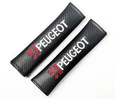 FIBRA Di Carbonio Effetto Cintura di sicurezza spalla PADS PER PEUGEOT. 205 207 206 307 107 RCZ