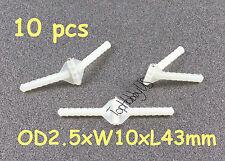 10pcs Super Light Nylon Pivot & Round Hinges D2.5xW10xL43mm RC Plane (US SELLER)