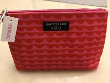 Clinique Marimekko Pink Makeup Bag with 4 Beauty Samples - New