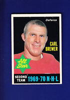 Carl Brewer All Star 1970-71 O-PEE-CHEE OPC Hockey #243 (VG+) Detroit Red Wings