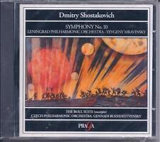 SHOSTAKOVICH Symphony NO 10 MRAVINSKY / The Bolt: Symphonic Suite ROZHDESTVENSKY