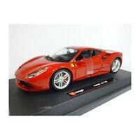 Bburago 26013 Ferrari 488 GTB Dark Red Scale 1:24 Model Car NEW! °