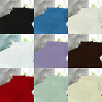 Flannelette 100% Brushed Cotton Duvet Quilt Cover Pillow Case Bedding Set