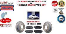 FOR HYUNDAI XG30 3.0 V6 2000-2003 REAR BRAKE DISCS + BRAKE DISC PADS SET NEW