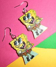 Orecchini creazioni in fimo spugna spongebob fatti a mano Bijoux  idea regalo