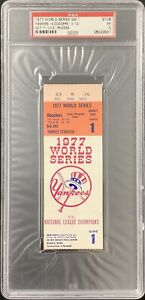 1977 World Series Game 1 Ticket Stub 10/11/77 PSA/DNA EX 5 NY Yankees vs Dodgers