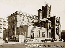 Construction of Post Office, 7th & K Sts., Sacramento 1911 Historic Photo Print