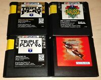 4 Game lot Sega Genesis MLB Baseball Triple Play Gold 96 Hardball 3 Tony LaRussa