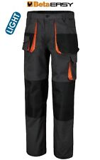 BETA TOOLS 7860E WORK TROUSERS CANVAS 180 g/m2 MECHANIC GREY ORANGE ALL SIZES