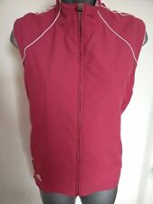 WOMENS ADIDAS PINK ZIP UP JACKET WAIST COAT GILET MEDIUM CLIMAPROOF WIND