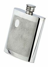 4 oz. English Pewter Flask With Barley Finish, Initial Engraved Free, New In Box