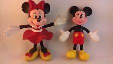 Lot 2 figurines Walt Disney / Eurodisney Mickey Minnie 13cm
