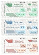 ITALIA REPUBBLICA - Posta Celere 1997 serie cpl. 3 val **