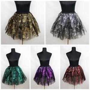 NEU Spinnennetz Tütü Tüllrock Petticoat Rock Ballett Fasching Cosplay Kleid Tutu
